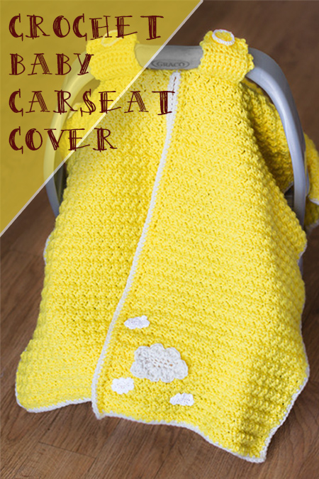 Crochet carseat cover