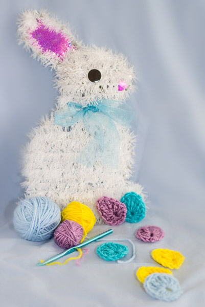 Easter egg crochet applique pattern