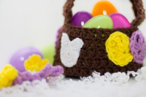 easter crochet basket