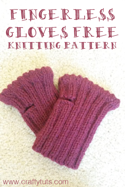 short fingerless gloves free knitting pattern � crafty
