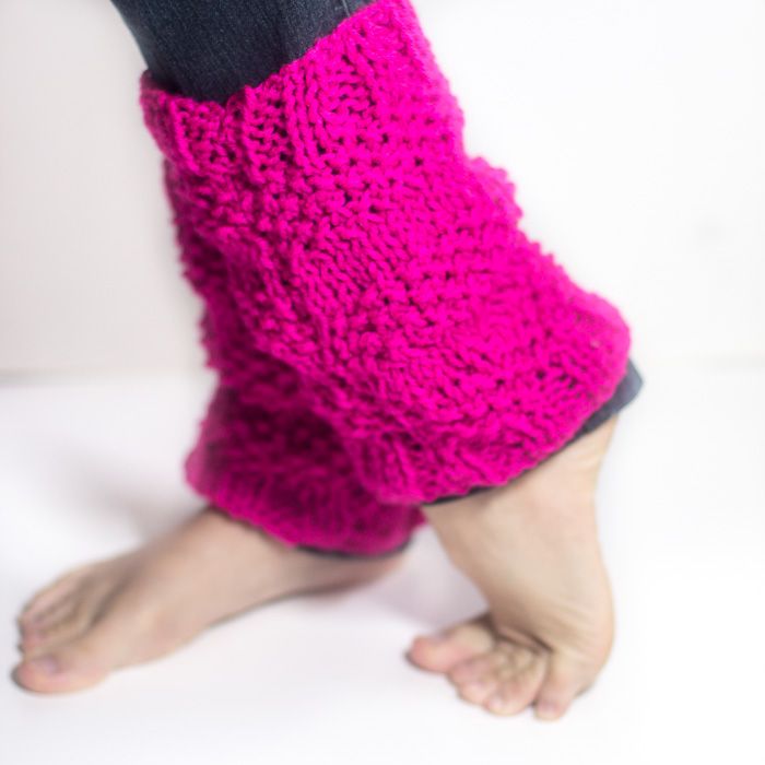 Free Knitting Patterns For Beginners Leg Warmers : Textured Knitted Leg Warmers - Crafty Tutorials
