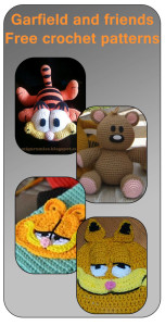 Compilation of free crochet patterns, garfield and friends amigurumis, appliques and hats. Check out these free crochet patterns