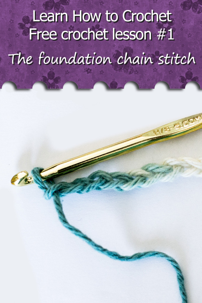 Learn How to Crochet The foundation chain stitch. Free crochet lessons in video. Learn how to crochet with these tutorial series. Beginner crochet