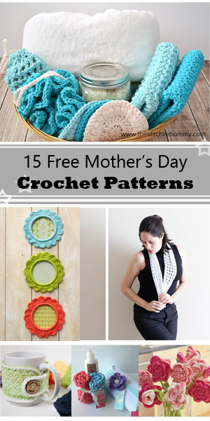 Free Crochet Pattern A Day : 15 Free Mothers day crochet projects - Crafty Tutorials