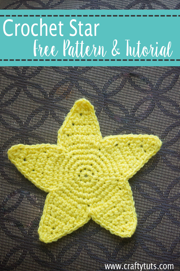 Free Crochet Star Pattern and video tutorial