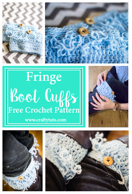 fringe-boot-cuffs. Fringe Boot Cuffs Free Crochet Pattern. Free crochet pattern to make fringe boot cuffs or boot toppers. Quick and easy gift.