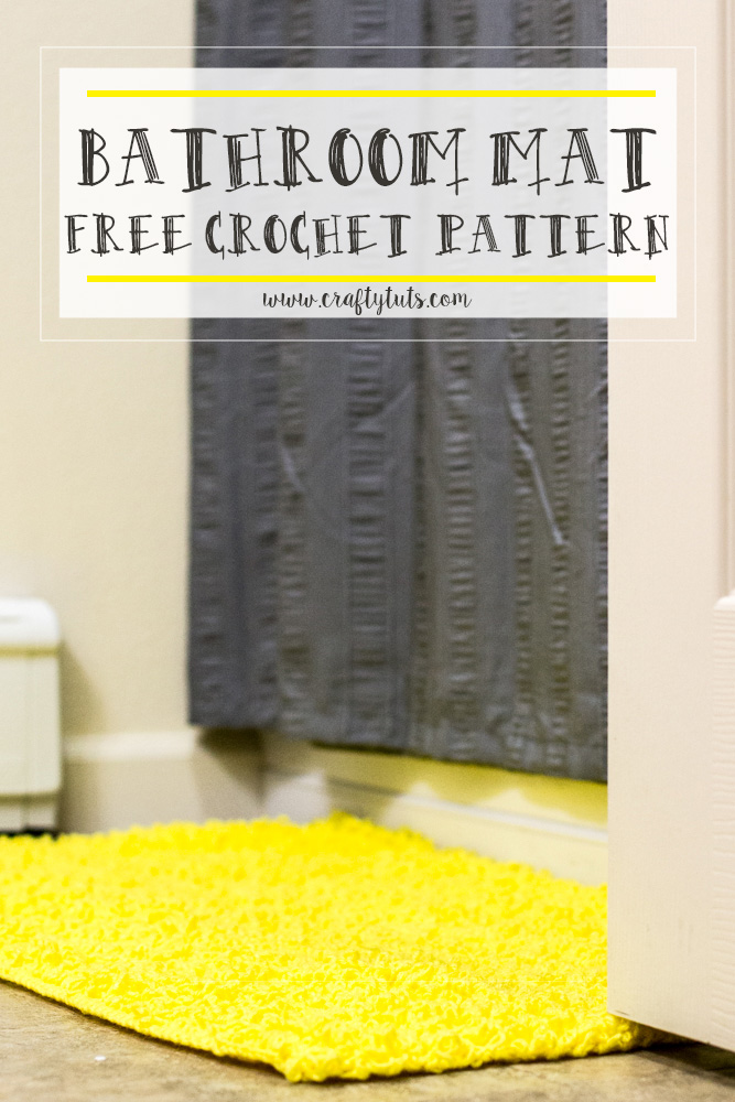 bathroom-mat Bathroom Mat Free Crochet Pattern
