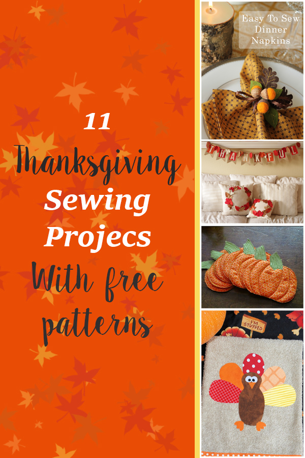 Thanksgiving sewing projects crafty tutorials
