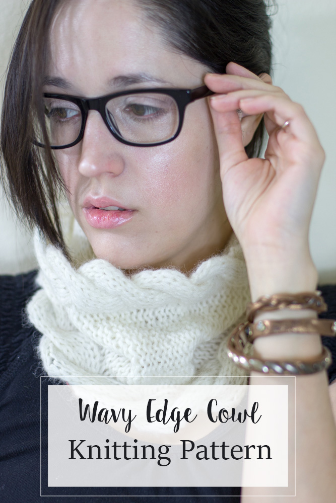 Cowl knitting pattern - Wavy edge cowl Designed to be paired with the Knit Picks wonderfluff yarn to give you instant cuddles of softness.