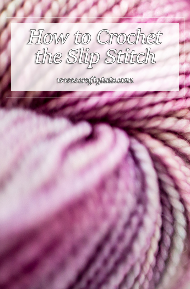 How to crochet the slip stitch, video tutorial showing you step by step and even in slow motion how to crochet the slip stitch