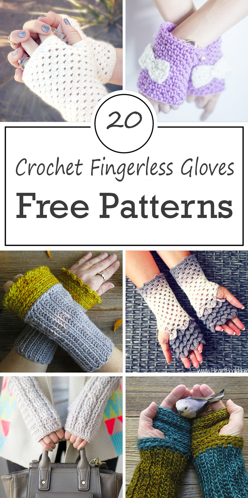 Crochet Fingerless Gloves Free Patterns – Crafty Tutorials