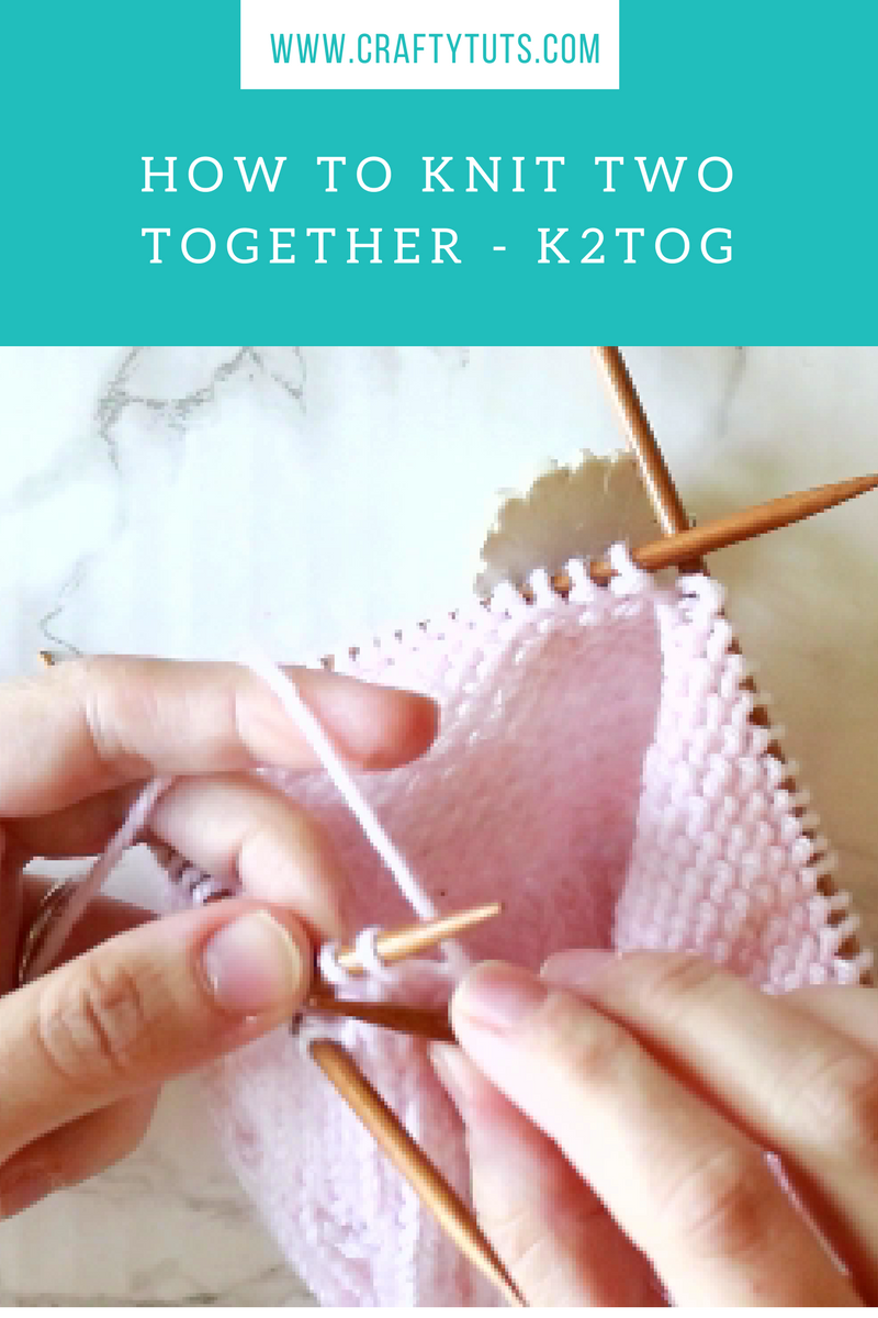 How to Knit Two Together - K2tog video tutorial, this video tutorial will show you how to make this very popular knitting decrease