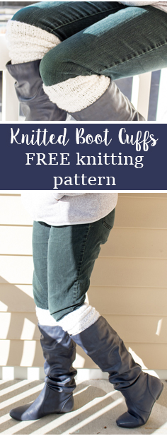 Knitted boot cuffs. How to knit boot cuffs, with free written pattern and video tutorial included. DIY knitted boot toppers.
