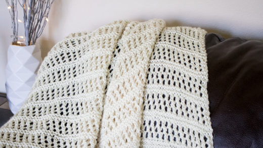 Summer throw free knitting pattern