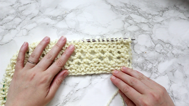 how to knit a throw blanket